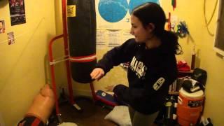 Working on the Standing Leg - Keys to the Thai Kick - Female Muay Thai