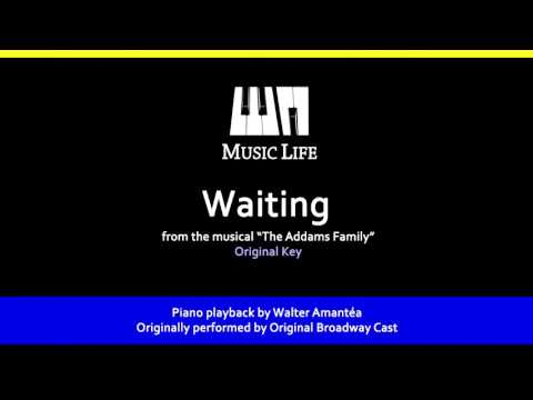 Waiting (The Addams Family) - Piano Playback for Cover / Karaoke