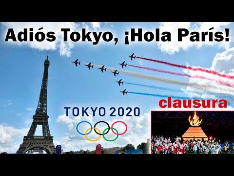 JUEGOS OLÍMPICOS ???? Adiós Tokyo, ¡Hola París 2024! ???? clausura Juegos Olímpicos Tokyo 2020