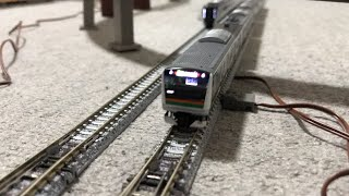 JR5両編成E233 3000系近郊電車(増備型)と中央本線4両編成E353系、きかんしゃパーシー+スクラフィーが走行!国鉄2両編成ディーゼルカー キハ58 1000形が停車中!【Nゲージ】
