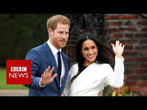 Prince Harry & Meghan Markle pose for photos at Kensington Palace – BBC News