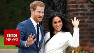 Prince Harry & Meghan Markle pose for photos at Kensington Palace - BBC News
