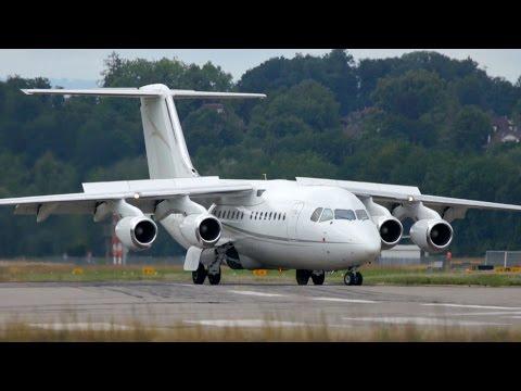 British Aerospace BAe 146-200 of Cello Aviation Landing at Bern Airport