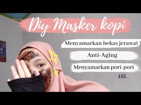 DIY Masker Kopi | coffee mask | menyamarkan bekas jerawat ...