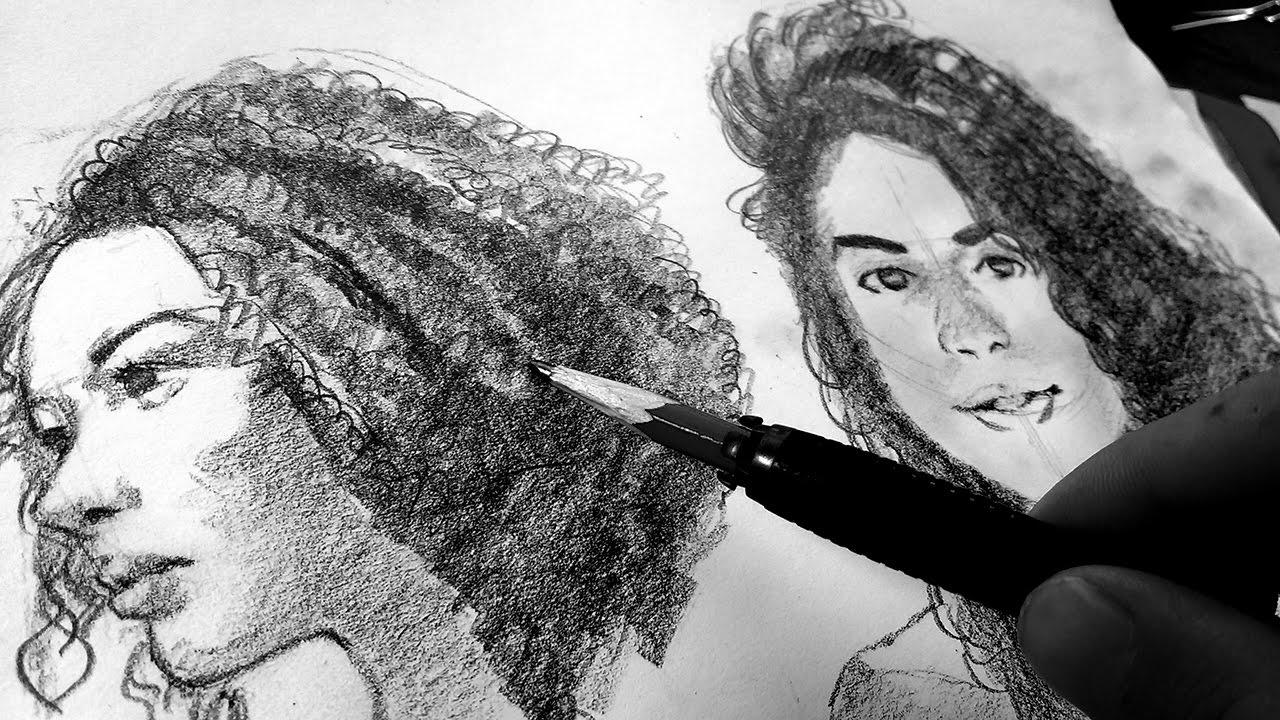 Como Dibujar Cabello Ondulado Chino Quebrado Fácil Y Rápido