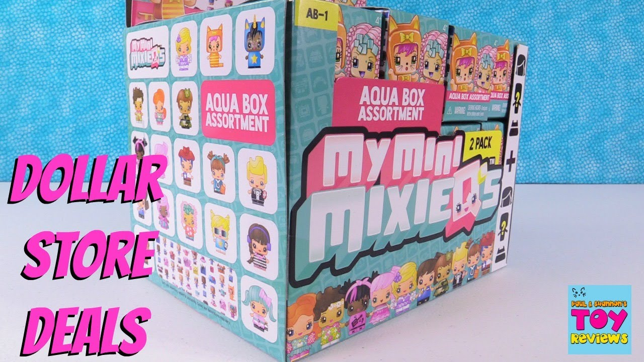 Dollar tree store finds haul my mini mixie qs full aqua box toy review pstoyreviews