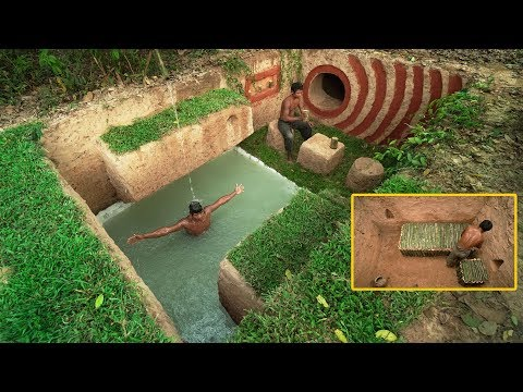 Building Beautiful Secret Underground House Villa And Swimming Pool