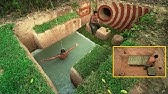 Building Beautiful Secret Underground House Villa And Swimming Pool
