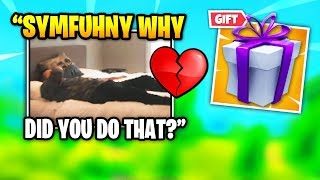 Courage HEARTBROKEN After Symfuhny Gave Brooke THIS GIFT | Fortnite Daily Funny Moments Ep.391