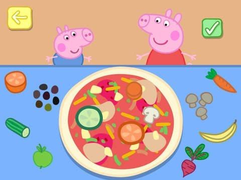 Peppa Pig Holiday Part 4: Making Pizza - iPad app demo for kids - Ellie