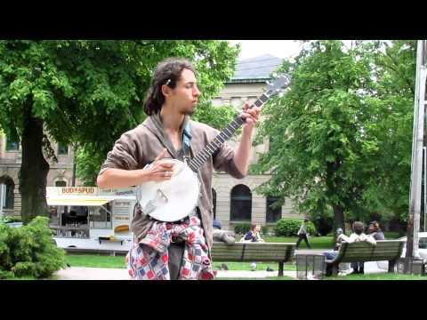 Gabriel Plays Quebec Folk music on Banjo