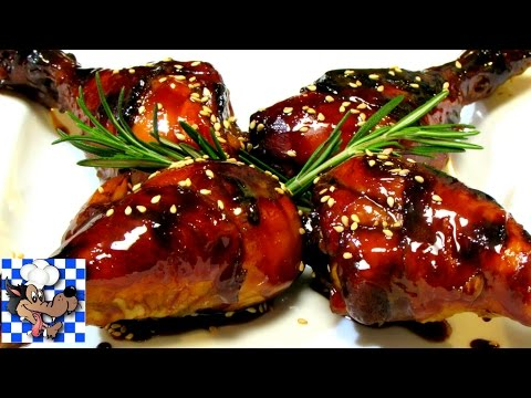 Honey Balsamic Glazed Chicken - Baked Chicken Recipe