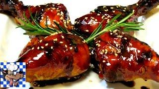 Honey Balsamic Glazed Chicken - Baked Chicken Recipe