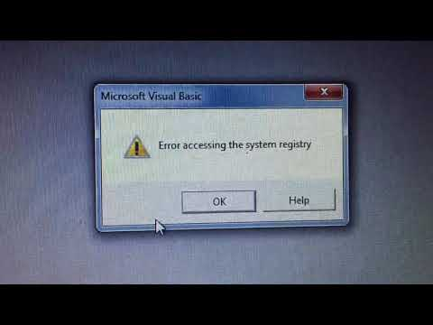Vb6 error accessing the system registry