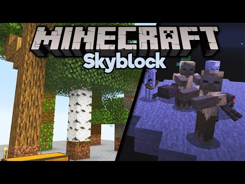 Farming Sand In Skyblock & All Wood Types! ▫ Minecraft 1.15 Skyblock (Tutorial Let's Play) [Part 6]