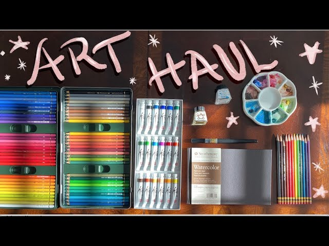 [VIDEO] 🎨🌿🦋 Art Haul   trying out new supplies!