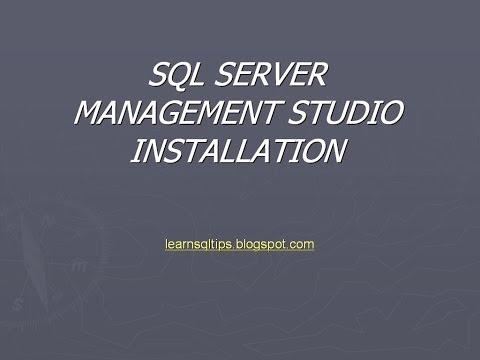 sql server management studio installation
