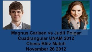 Magnus Carlsen vs Judit Polgar Chess Blitz