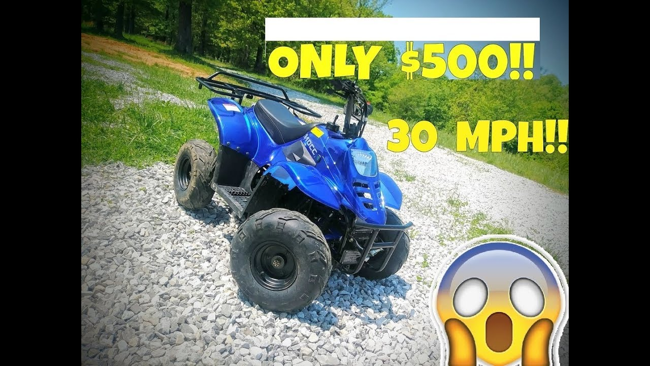 Cheap Chinese Atv Review 110cc 30mph And Only 500 Youtube