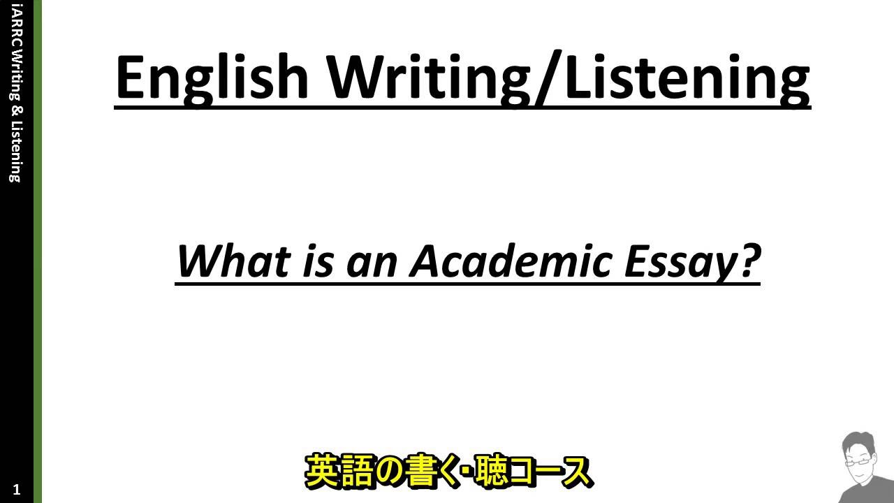 What is an academic essay