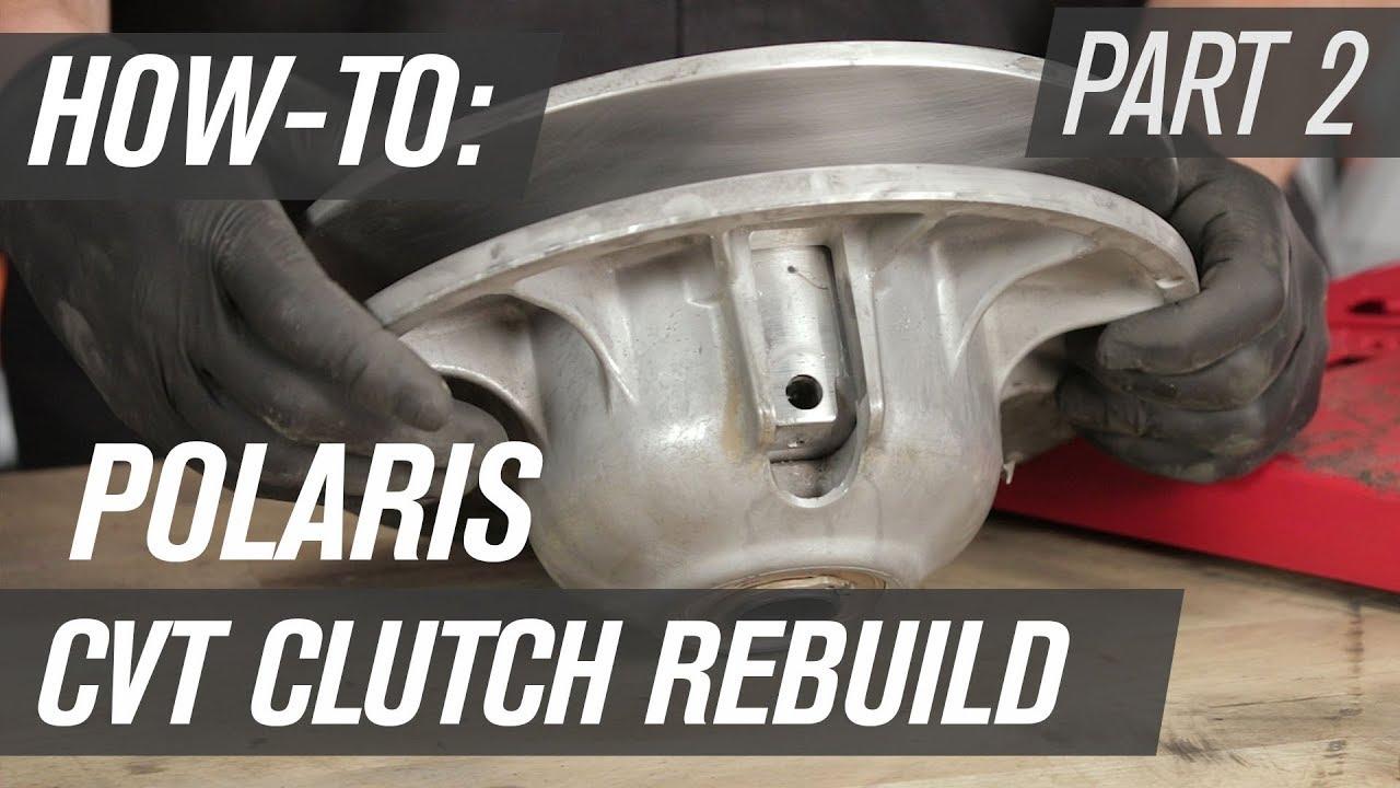 how to rebuild a polaris utv cvt clutch secondary clutch [ 1280 x 720 Pixel ]