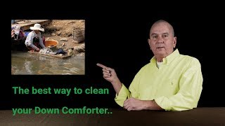 The best way to clean a goose Down Comforter...
