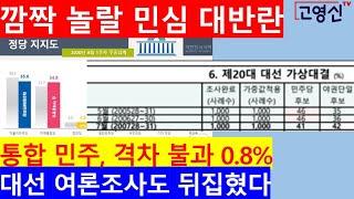 [고영신TV]가상 20대 대선, 야권단일후보가 민주후보 이긴다