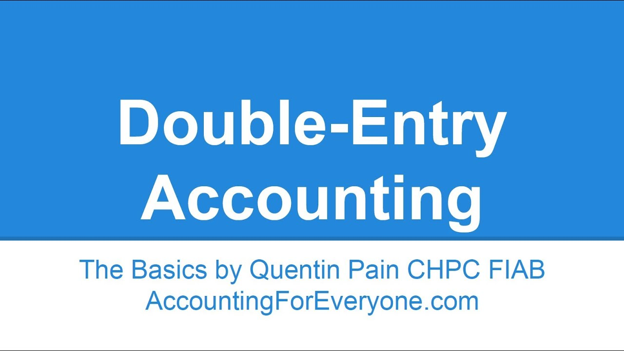 a synopsis of double entry in accounting principles Description for over 15 years, weygandt, accounting principles has been praised by both instructors and students across the country for its outstanding visual design, its carefully integrated pedagogy, and its excellent writing style and clarity of presentation our main focus continues to be 'student success in accounting' and the new.