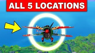 Fly through Golden Rings in an X-4 Stormwing Plane – ALL 5 LOCATIONS (14 DAYS OF FORTNITE)