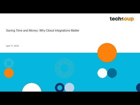Webinar - Saving Time and Money: Why Cloud Integrations Matter 2018-4-17