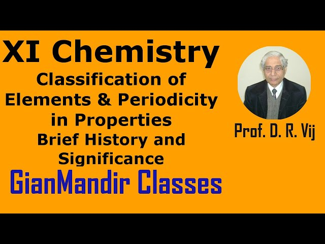 XI Chemistry | Classification of Elements and Periodicity in Properties by Ruchi Ma'am