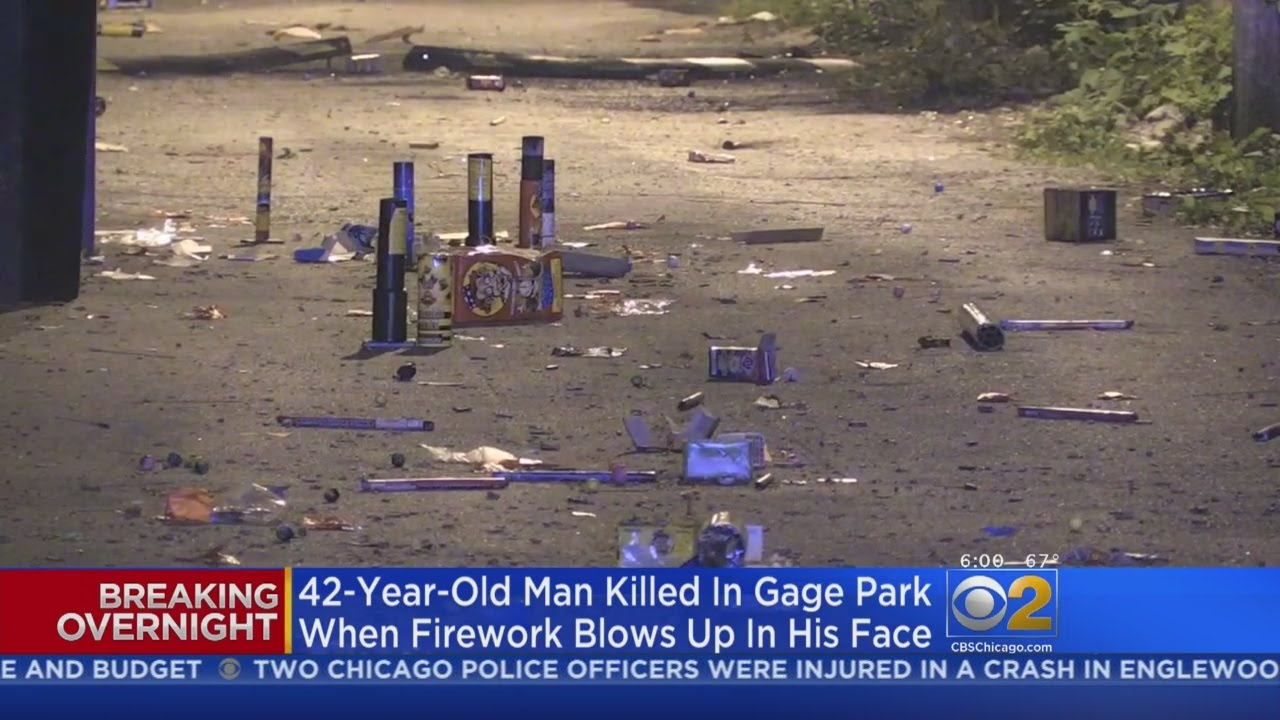 Man Killed When Firework Blows Up In His Face In Gage Park