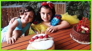 İki Tane Pasta Aldık Rüya ile Yankı İkinci Doğum Günü Kutladılar | Eğlenceli Çocuk Videosu