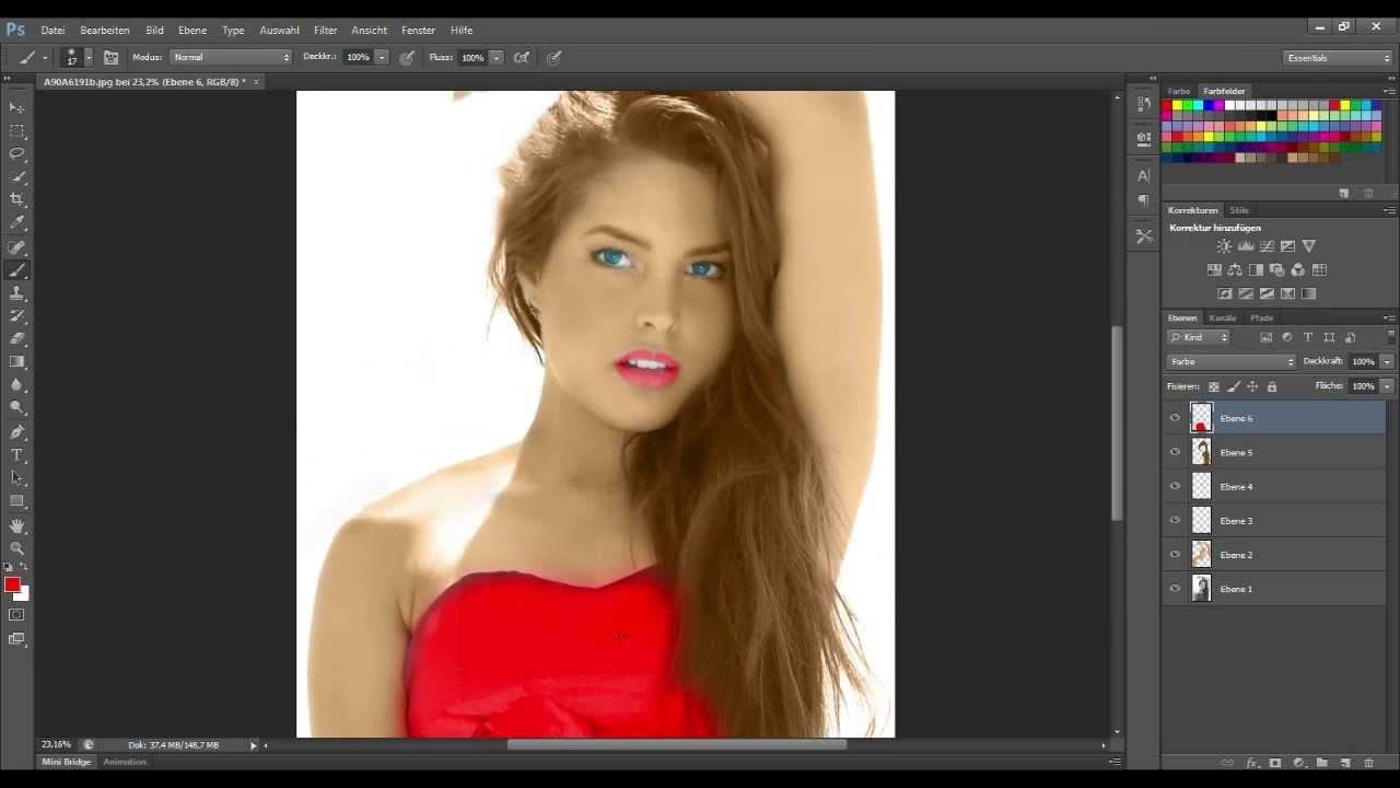 Haare farben in photoshop cs5