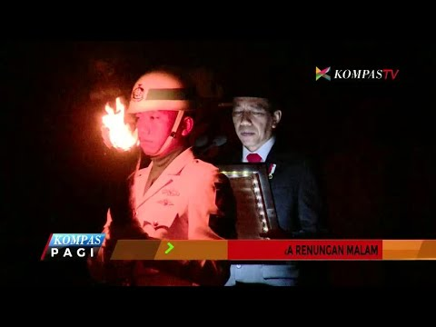 Presiden Joko Widodo Pimpin Upacara Renungan Malam
