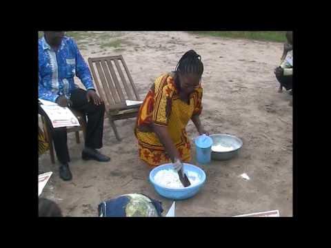 The wetting method to prevent konzo