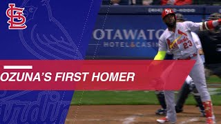Marcell Ozuna's MAMMOTH shot for his first Cardinals home run