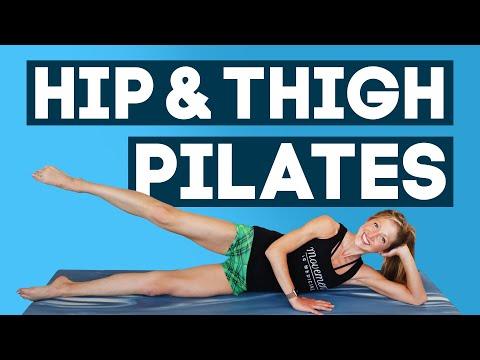 Hip and Thigh Pilates Lean Legs Routine (NO EQUIPMENT)