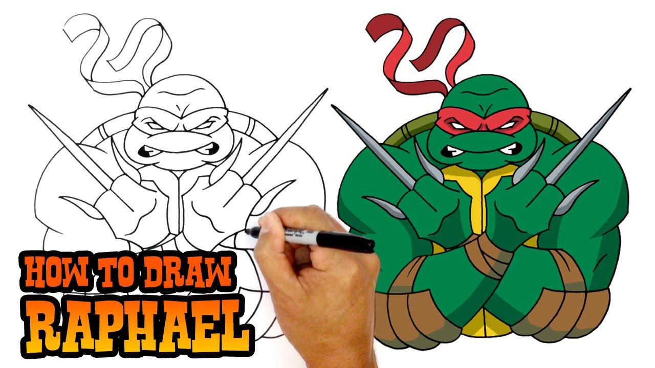 How To Draw Raphael Teenage Mutant Ninja Turtles Youtube