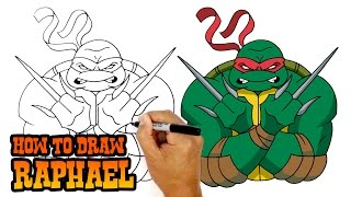 How to Draw Raphael | Teenage Mutant Ninja Turtles