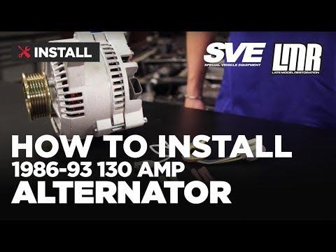 85 mustang alternator wiring diagram mustang alternator install sve 130 amp  86 93 fox body  youtube  mustang alternator install sve 130