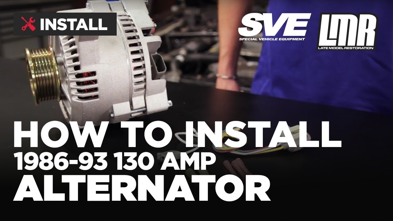 Mustang Alternator Install Sve 130 Amp 86 93 Fox Body Youtube Powermaster One Wire Diagram
