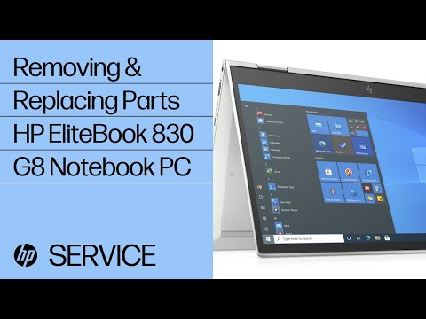Removing & Replacing Parts | HP EliteBook 830 G8 Notebook PC | HP Computer Service | @HPSupport