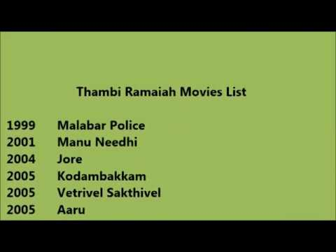 Thambi Ramaiah Movies List