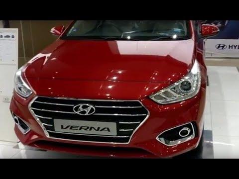 All New Hyundai Verna Fiery Red Colour Interior Exterior Walkaround Video