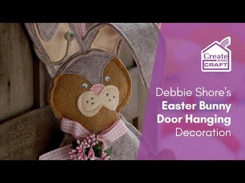 Easter Decorations To Make: Debbie Shore's Easter Bunny Door Hanger