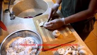 КУРИНЫЕ ГРУДКИ С ГРИБАМИ И СЫРОМ  Chicken breast with mushrooms and cheese   YouTube
