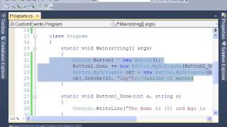 C#: How to Create Custom Event Using Delegate - Tutorial 6