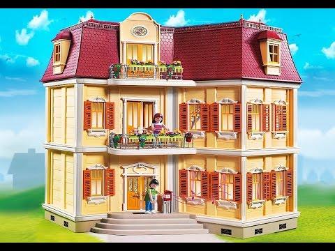 Lego lắp ghép nhà búp bê, đồ chơi mô hình lâu đài Playmobil Large Grand Mansion 5302