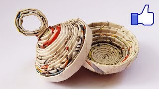 NewsPaper craft Kumkum Box | How To Make A Kumkum Box | Best out of waste